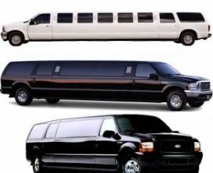 FORD EXCURSION LIMO SERVICE San Diego Rental limousine wedding black white pink