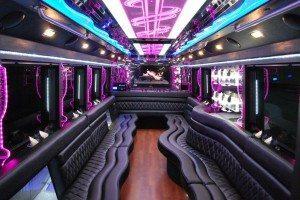 25 passenger party bus features San Diego
